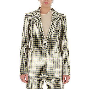 Victoria Beckham 51101bmustardblack Femmes-apos;s Blazer laine blanche/noire