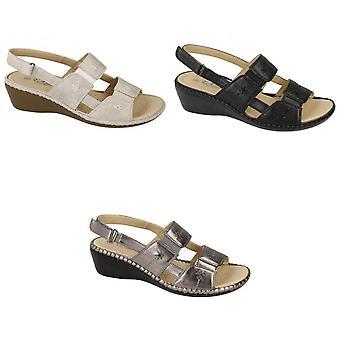 Eaze Womens/Ladies Open Toe Sandals