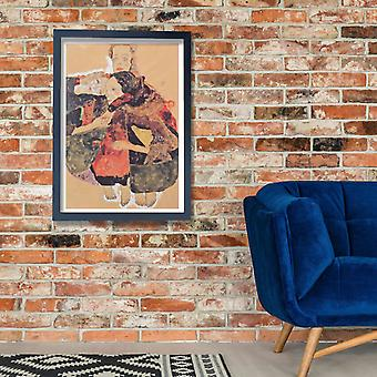 Egon Schiele - Red and Brown Poster Print Giclee