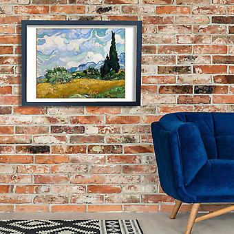Vincent Van Gogh - Wheat Field with Cypresses Poster Print Giclee