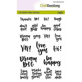 Craftemotions Clear Stamps A6 - Bullet Journal - Quotes (Eng) Par Carla Kamphuis