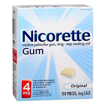 Nicorette stop smoking aid gum, 4 mg, original, 110 ea