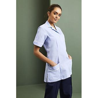 SIMON JERSEY Women's Lightweight Classic Collar Healthcare Scrub Tunic, Sky Blue