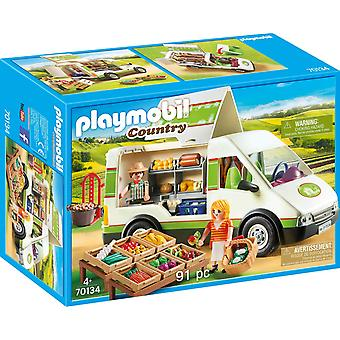 Playmobil 70134 Country Mobile Farm Market 91PC Playset
