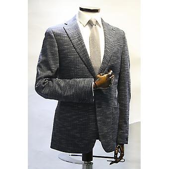 Edward Blue Textured Linen Blazer