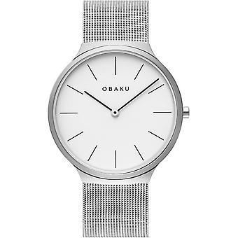 Obaku Ark Steel Silver Tone Wristwatch V240GXCWMC