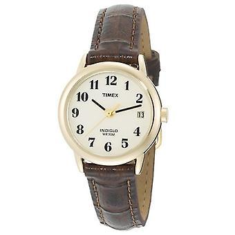 Timex T20071 kvinnor läderrem analoga klocka