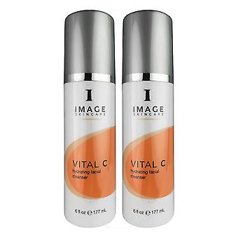 Image vital c hydrating facial cleanser 6 oz duo pack