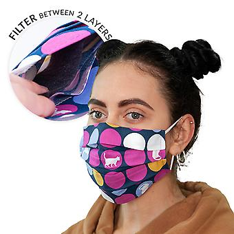 Double-layer streetwear mask with filter bag + 3 filters dots