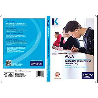 CORPORATE AND BUSINESS LAW (ENG) - STUDY TEXT by KAPLAN - 97817874039