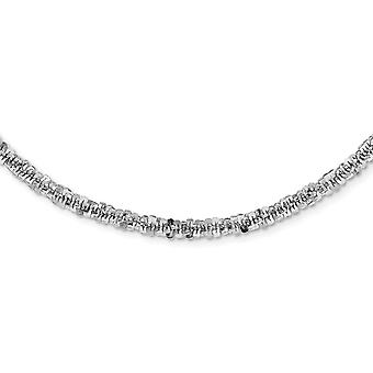 4.15mm 925 Sterling Silver Rhodium plated Sparkle Cut Necklace 18.25 Inch Jewelry Gifts for Women
