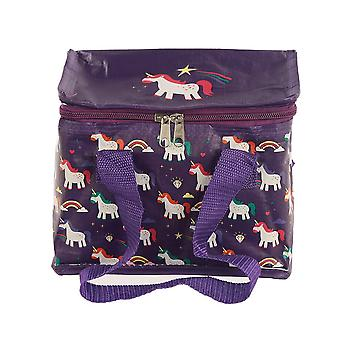 Enchanted Unicorn Rainbow Cool Woven Bag Lunch Box Carrier Cooler Camp Outdoors