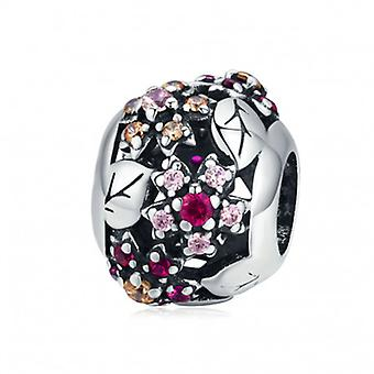 Sterling Silver Charm Sparkling Cherry Blossom - 6530