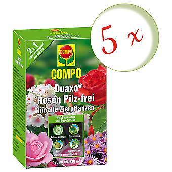Sparset: 5 x COMPO Duaxo® Roses Mushroom-free for all ornamental plants, 130 ml