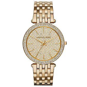 Michael Kors MK3438 Darci Pave Oro Tono Muñeca Mujer Reloj