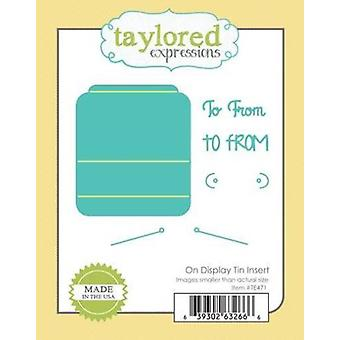 Taylored Expressions Cutting Die Set – On Display Tin Insert