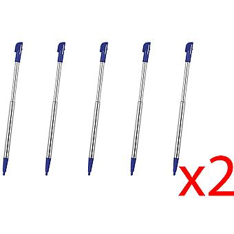 10x Blue Touch Stylus Pen Metal Retractable for Nintendo 2DS