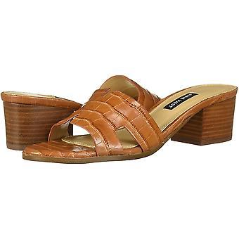 Negen West Women's Schoenen Aubrey Leather Open Toe Casual Mule Sandals