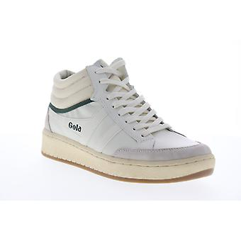 Gola Championship High  Mens White Leather Lifestyle Sneakers Shoes