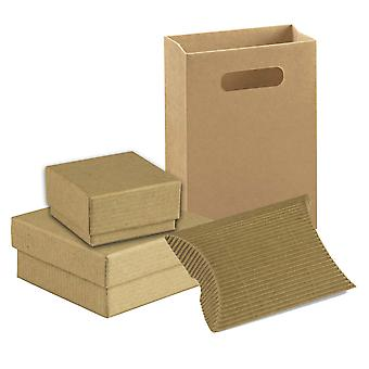 Kraft Eco Kierrätetty ruskea pahvi korut lahjalaatikot