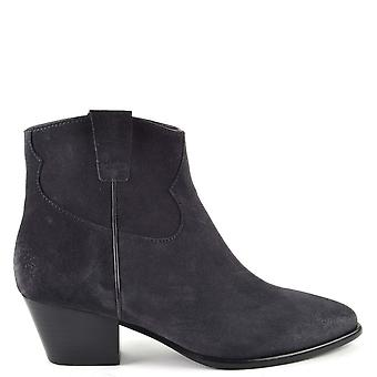 Ash HOUSTON Boots Brushed Midnight Suede
