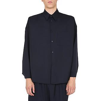 Marni Cumu0061a0s4545500b99 Men's Blue Wool Shirt