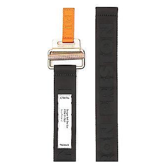 Heron Preston Hmrb005f20mat0011076 Men's Black Fabric Belt