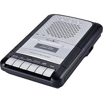 انعكاس CCR8012 راديو كاسيت لاعب FM AUX, الشريط, USB وضع التسجيل, مدفوع. ميكروفون أسود, رمادي
