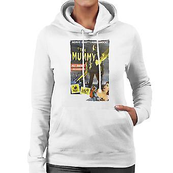 Hammer Horror Films Mummy Nerve Shattering Shock Women's Hooded Sweatshirt