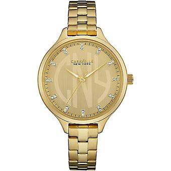 Caravelle Watch 44L206 - Plated Stainless Steel Ladies Quartz Analogue