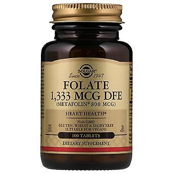 Solgar, Folate , 800 mcg, 100 tablettes
