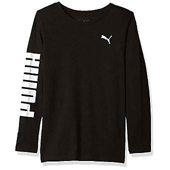 PUMA Big Boys' Long Sleeve T-Shirt, Black, XL