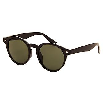 Sunglasses Unisex black with green lens (010 P)