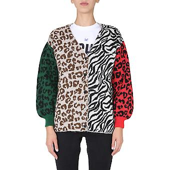 Boutique Moschino 092658011888 Dames's Multicolor Wool Cardigan