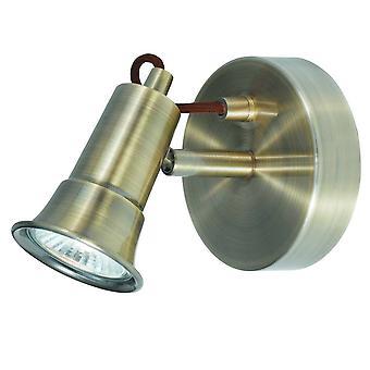1 luz interior ajustable pared foco de metal antiguo, GU10