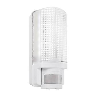 Saxby Motion Pir - LED INTÉGRÉ PIR 1 Lumière extérieure Lumière murale givrée, Gloss White IP44