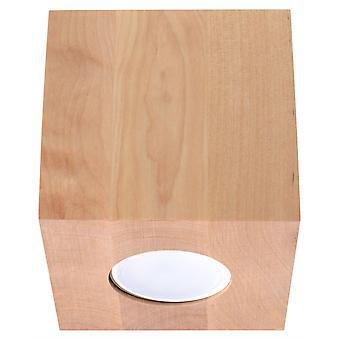 Sollux QUAD - 1 licht oppervlak gemonteerd downlight natuurlijk hout, GU10