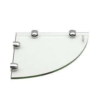 Glass Corner Bathroom / Bedroom Shelf - 200x200mm - Pack of 6