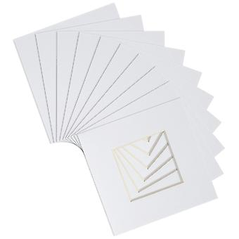 """Nicola Spring 20pc Picture Photo Mounts Set - To Fit Frame Size 10 x 10"""" for Image Size 6 x 6"""" - White"""