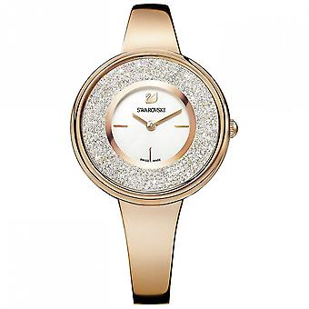 Swarovski 5269250 White Rose-gold tone PVD Metal bracelet Crystalline Pure Ladies Watch