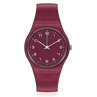 Relógio de silicone Swatch So28r103 Wakit Burgundy