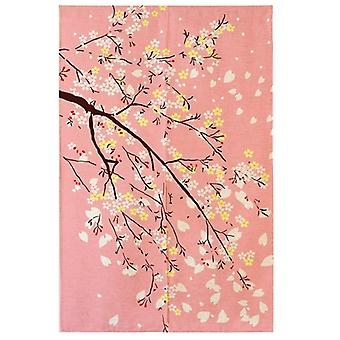Japan Beimen Road Shower Curtain Cherry Blossom Japanese Fabric Printing (pink)