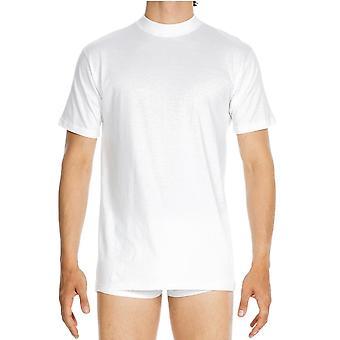 HOM Harro الطاقم الجديد الرقبة تي شيرت - أبيض