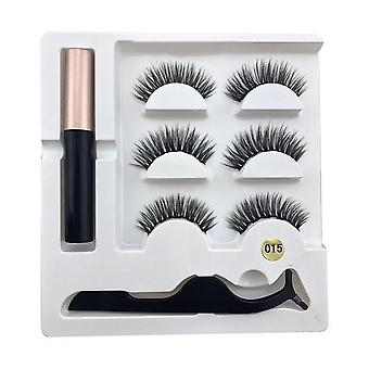 Magnetic Eyeliner Liquid, False Eyelashes, Waterproof Natural Long Thick Eye