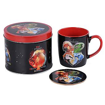 Harry Potter Mug and Coaster gift tin set Magical Hogwarts new Official Gift Set