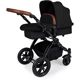 Ickle Bubba Stomp v3 2-in1 Black Pushchair and Carrycot