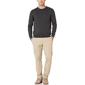 Essentials Men's Crewneck Sweater, -Charcoal Space-Dye, X-Small