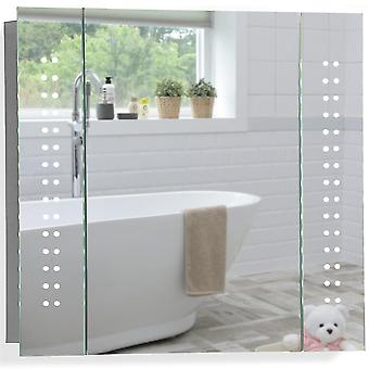 LED Bathroom Mirror Cabinet 60(H) x 65cm(W) x 13(D)  C19