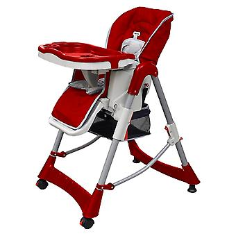 Baby chair high chair Bordeaux-Red height adjustable