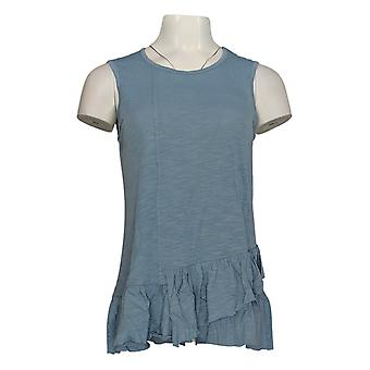 DG2 por Diane Gilman Women's Top Blue Tank Cotton Sleeveless 725-087